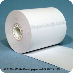<b>#23179</b><br />3 1/4 in. x 165 ft.<br />White Bond Paper<br />Case of 50 rolls