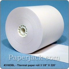Double-Sided Thermal Rolls, #318DBL - Case of 50 rolls