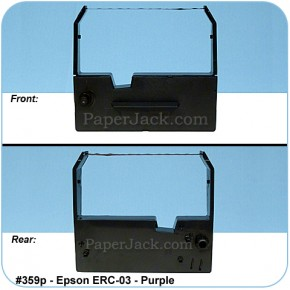 <b>#359p</b><br />Ink Cartridges<br>Epson ERC-03 - Purple<br>Case of 12 Cartridges