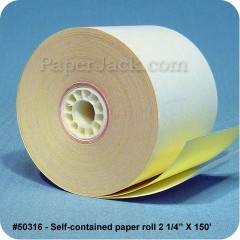 Self-Contained Paper Rolls, #50316 - Case of 50 rolls