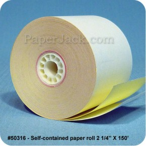 <b>#50316</b><br />2 1/4 in. x 150 ft.<br />Self-Contained Paper<br />Case of 50 rolls