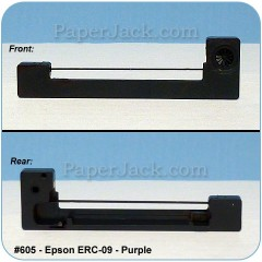 Ink Cartridges Epson ERC-09 - Purple, #605 - Case of 12 Cartridges