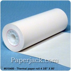 Thermal Paper Rolls, #610480 - Case of 50 rolls