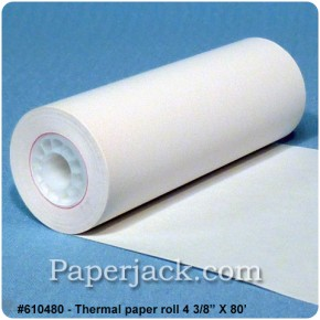 <b>#610480</b><br />4 3/8 in. x 90 ft.<br />Thermal Paper<br />Case of 50 rolls