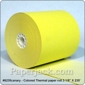 CANARY Thermal Paper Rolls, #6235canary - Case of 50