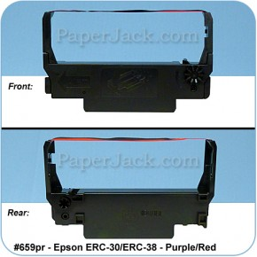 <b>#659pr</b><br />Ink Cartridges<br>Epson ERC-30/ERC-38 - Purple/Red<br>Case of 12 Cartridges