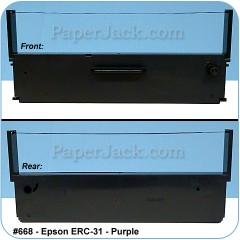 <b>#668</b><br />Ink Cartridges<br>Epson ERC-31 - Purple<br>Case of 12 Cartridges