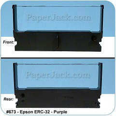 <b>#673</b><br />Ink Cartridges<br />Epson ERC-32 - Purple<br />Case of 12 Cartridges