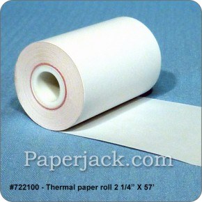 <b>#722100</b><br />2 1/4 in. x 57 ft.<br />Thermal Paper<br />Case of 100 rolls